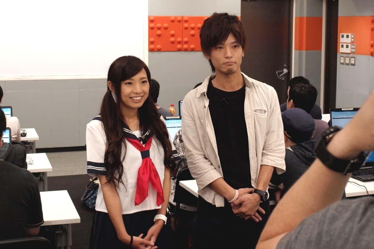 G&E渋谷校で、倖田柚希さん・孔明さん出演のCMを撮影しました
